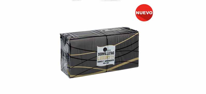 Servilleta 40×40 2c (Burdeos/Negra)