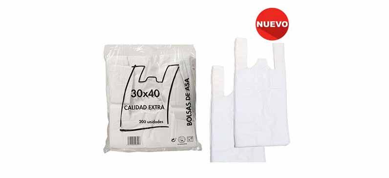 Bolsa De Camiseta Blanca 35×50